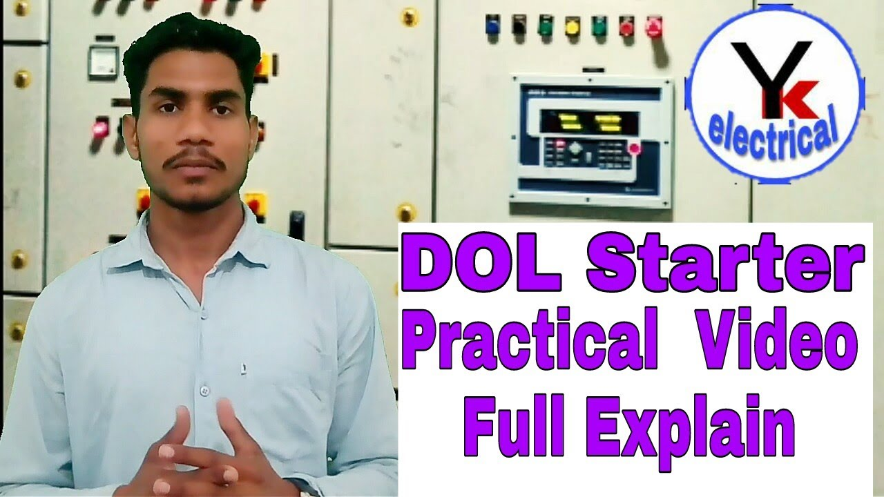 Dol Starter Practical Wiring Direct On Line In Hindi Power Circuit Reveres Forward Urdu Yk Electrical
