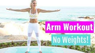 Video Arm Workout, No Weights! - UPPER BODY TONE | Rebecca Louise download MP3, 3GP, MP4, WEBM, AVI, FLV Juli 2018