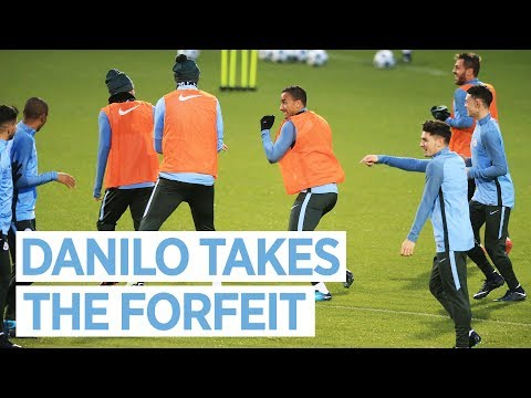 DANILO AND BERNARDO TAKE THE FORFEIT | Man City Training