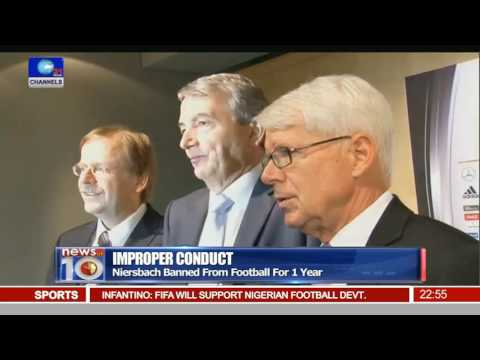 News@10: Infantino Meets Buhari, Saraki On Development Of African Football 25/07/16 Pt.4