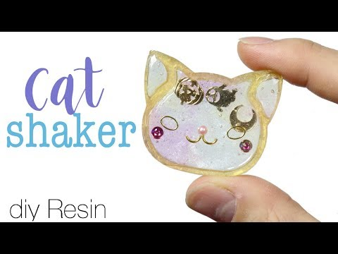 Watch me Resin: How to DIY No Liquid Cat Shaker Charm Tutorial