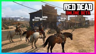 Red Dead Online - NEW DETAILS! Ranking Up, Owning Horses, Creating A Posse & MORE! (RDR2)