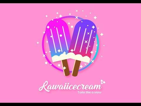 #tutorial #kawaiicute Tutorial - KAWAII ICE CREAM LOGO - ADOBE ILLUSTRATOR CS6 (SHORT AND SIMPLE) thumbnail