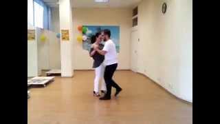 Кизомба обучение-4. Блок 2. Мария Ковтун & Дмитрий Воеводкин. Kizomba workshop.