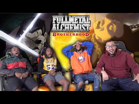 Fuhrer Bradley Vs Greed! Full Metal Alchemist: Brotherhood Episode 14 REACTION/REVIEW