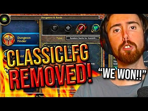 Asmongold Reacts To The REMOVAL Of The ClassicLFG Addon - Classic WoW Experience SAVED!