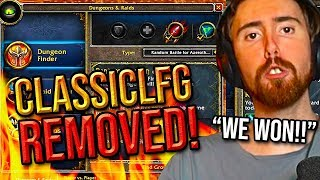 Asmongold Reacts To The Removal Of The Classiclfg Addon - Classic Wow Experience Saved