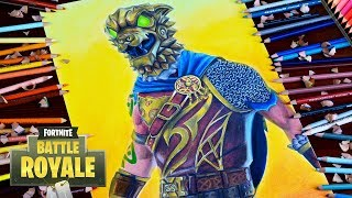 Drawing Fortnite Character - Battle Hound Skin - New Legendary Skin / lookfishart