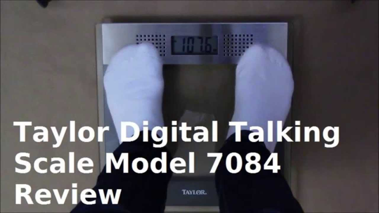 Taylor Digital Talking Bathroom Scale 7084 Review