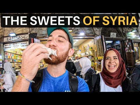 THE SWEETS OF SYRIA (best Ice Cream I've Ever Had)