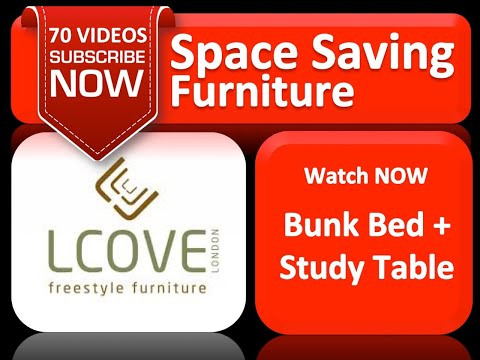 Lcove Bunk Beds Study Table For Kids Youtube