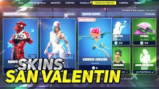 *NEW VALENTINE'S SKINS* CHALLENGES AND GIFTS FORTNITE STORE 14 February