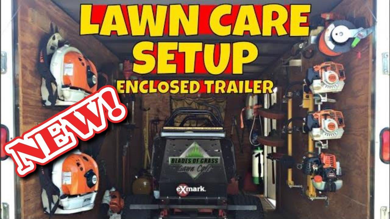Lawn Care Enclosed Trailer Setup Enclosed Trailer Setup