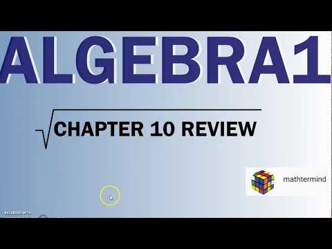 Algebra1 Chapter 10 Review YouTube