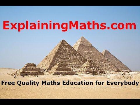 Download Volume and Similarity 1 - ExplainingMaths com IGCSE GCSE Maths