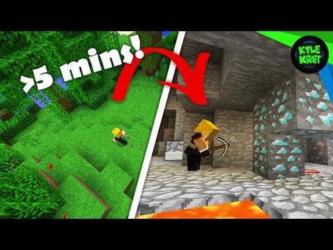 Minecraft Diamonds in UNDER 5 MINUTES from Spawn
