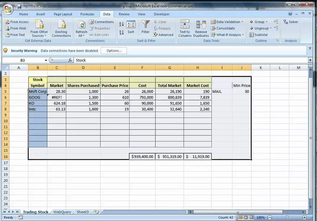The Automated Spreadsheet Using Excel - YouTube