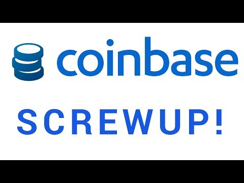 Massive Coinbase Screwup!