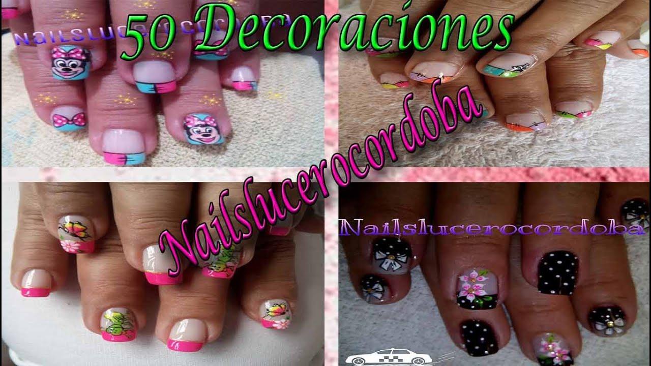 de uas bonitas y fcil de realizar images nail art nlc youtube with como pintarse las - Decoraciones Uas