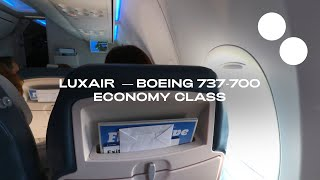 LUXAIR BOEING 737-700 ECONOMY LUXEMBOURG - LISBON