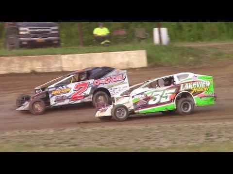 RUSH Sportsman Modified Heat One | Eriez Speedway | 8-6-17