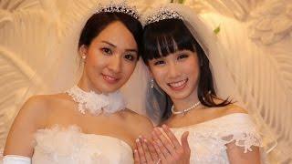 一ノ瀬文香&杉森茜、芸能人初の同性婚 結婚会見1 #Ayaka Ichinose #Akane Sugimori 一ノ瀬文香 動画 27