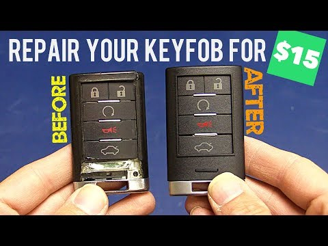 Cadillac Key Fob SHELL Repair & Replacement: Heart Horse Review (SRX CTS XLR XTS)