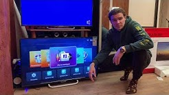 SmartTV 43 дюйма за 12700₽! распаковка Polarline 43PL52TC-SM