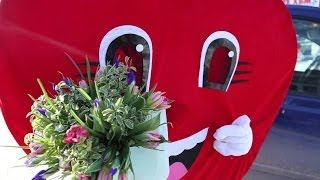Ladybird. Необычная доставка цветов. СЕРДЦЕ-КУРЬЕР в Майкопе(УРА!!! Нашей мастерской Ladybird - 3 года! А также можете заказать необычную доставку!!! Такое веселое СЕРДЦЕ-КУРЬ..., 2013-12-13T11:17:13.000Z)