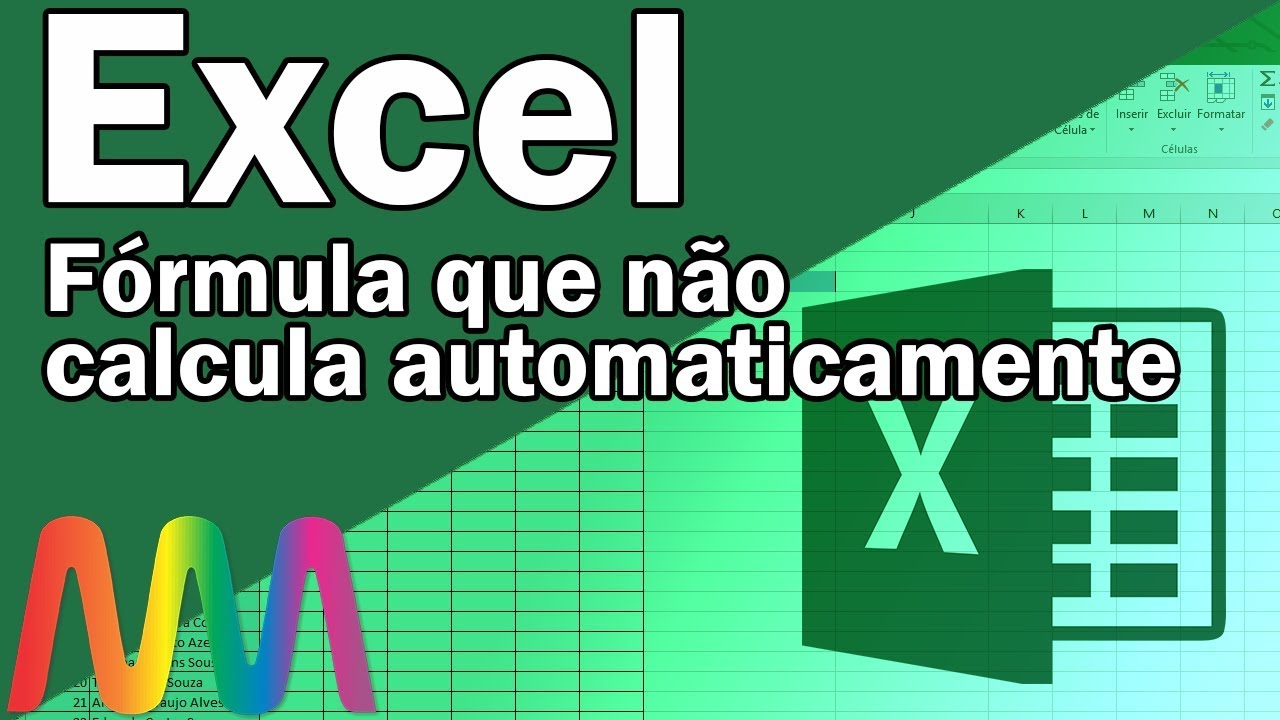 Excel 20/20   Corrigindo fórmulas que não calculam  automaticamente/Fórmula copiada não atualiza.