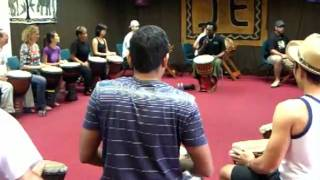 African drumming workshop for beginners