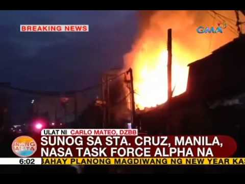UB: Sunog sa Sta. Cruz, Manila, nasa 5th alarm na