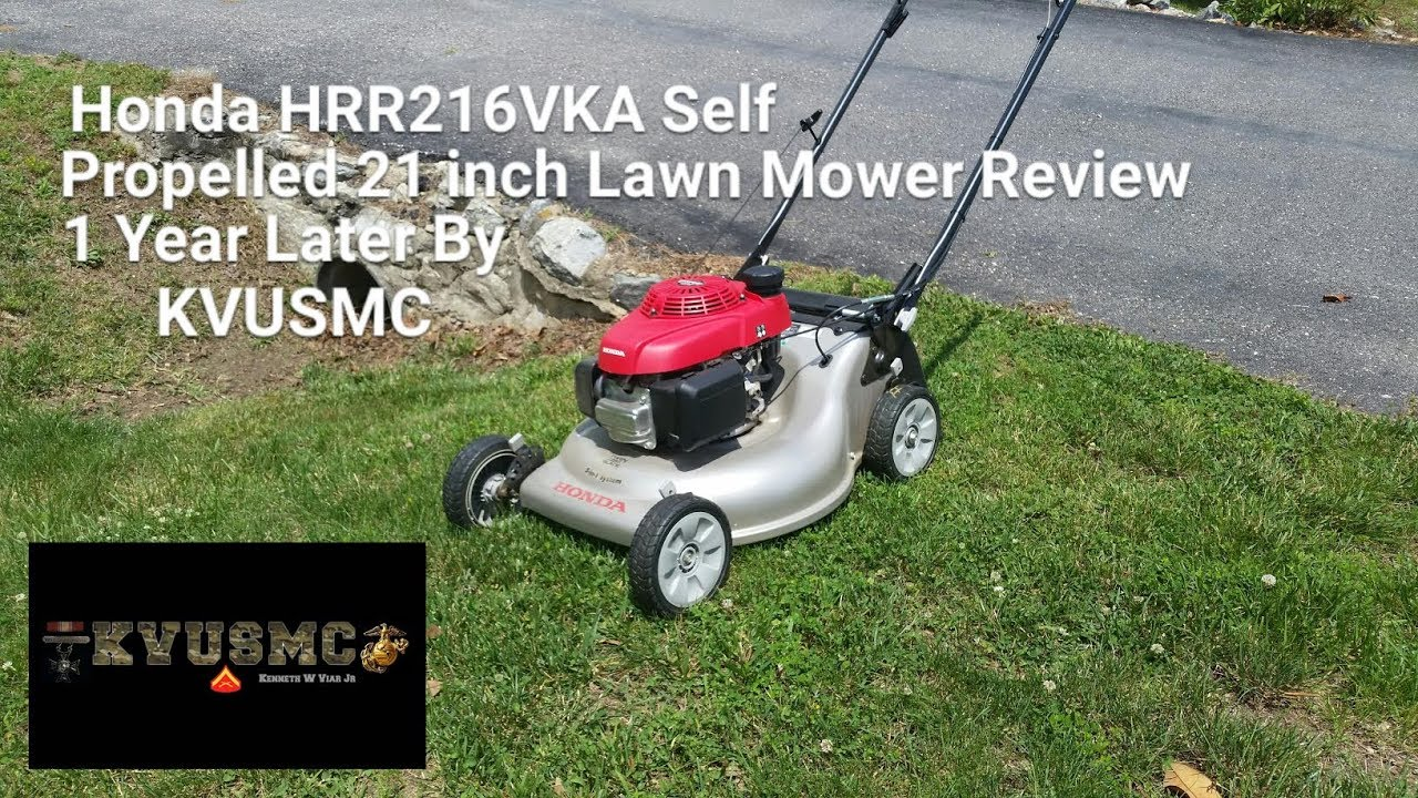 honda hrr216vka self propelled 21 inch lawn mower review 1 year later by kvusmc