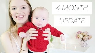 4 MONTH UPDATE | Pooping, Rolling Over, & Sleep Training
