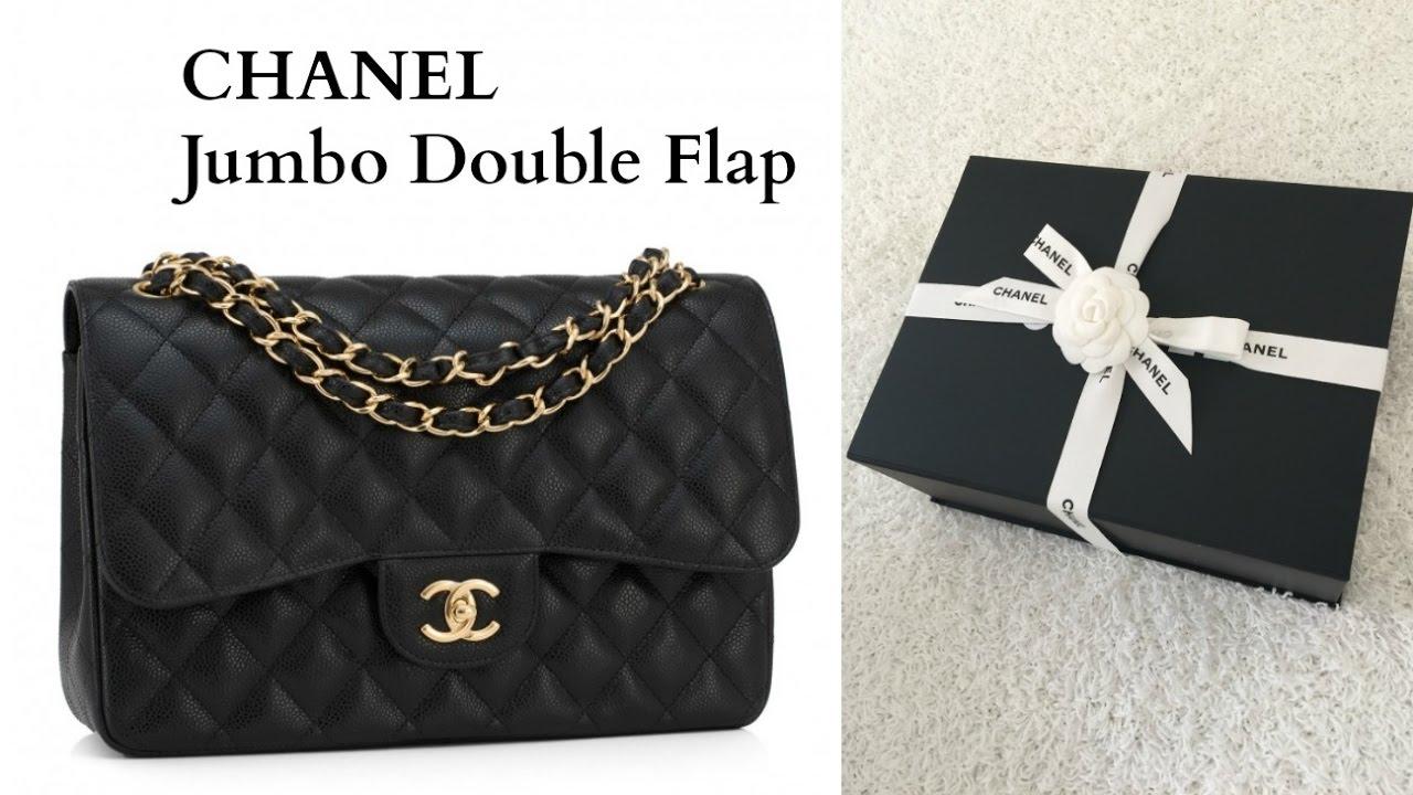 0912018e6cf1 Chanel Unboxing Jumbo Double Flap - YouTube