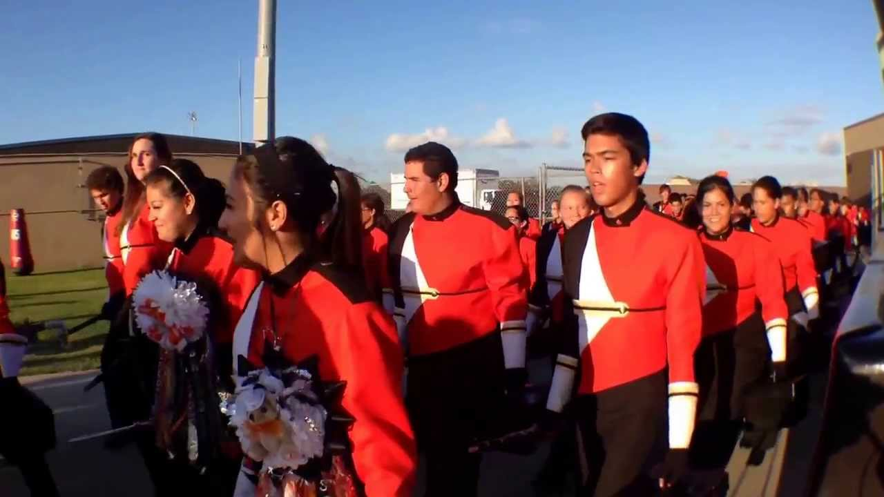 La porte high school chatos and mighty bulldog marching for Laporte schools