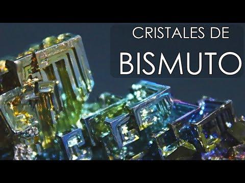 Aprende como hacer estos curiosos cristales de bismuto