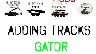 Farming Simulator 17 - Modding - Gator Adding tracks --  LIKE Pt1