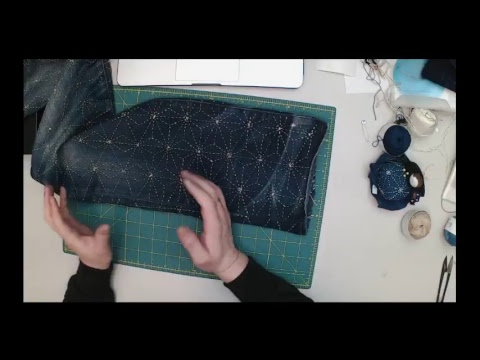 Sashiko Stitching Live Streaming | Very quiet Jeans Mending Day...