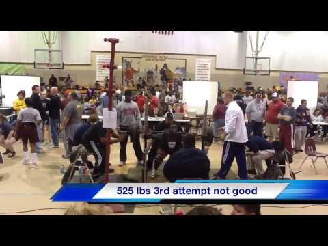 NCHS powerlifting meet Alex Devine