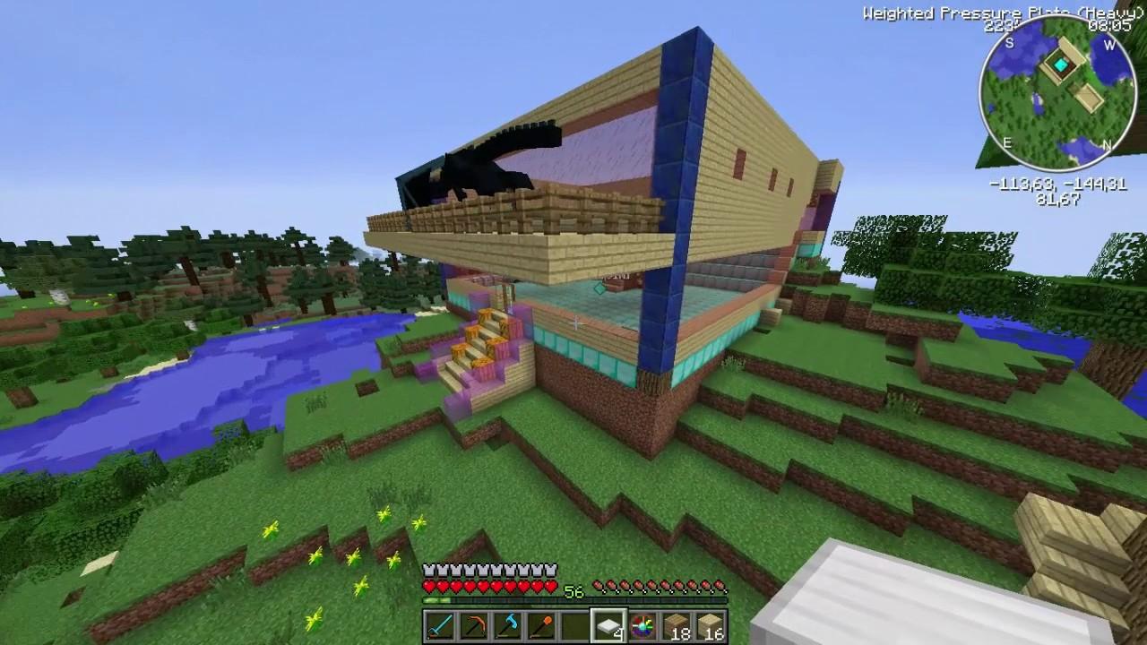 Sezon 8 Minecraft Modlu Survival Bölüm 7 - Camdan Ev