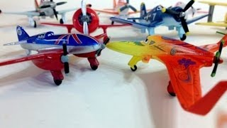 Disney Planes Dusty, Elchopacabra, Ishani, Skipper, Rochelle, Bulldog, Lighting Mcqueen