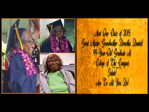 99Yr Old Black Grandmother Who Graduated From College of the Canyons (Hidden Gems Found On Internet)