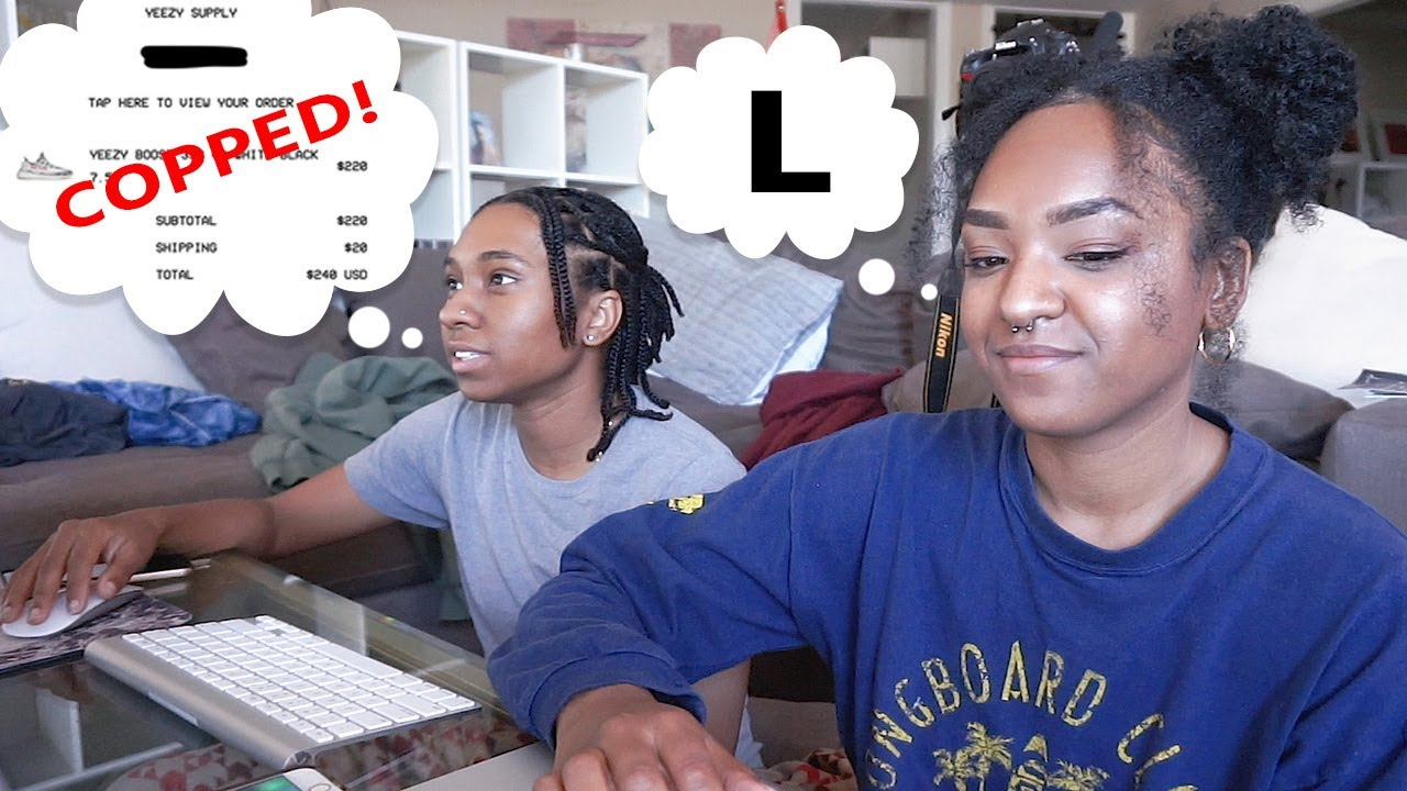 d95f62372d8 WE COPPED THE YEEZY ZEBRAS AGAIN!! (Watch How) Yeezy Restock Vlog ...