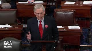 Mitch mcconnell speaks from senate floor ahead of shutdown deadline
