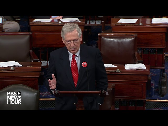 Mitch Mcconnell speaks from Senate floor ahead of shutdown deadline