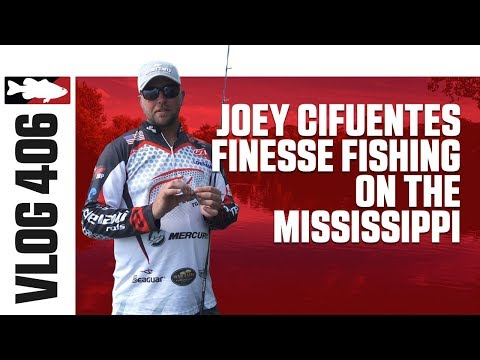 Joey Cifuentes Finesse Fishing on the Mississippi - TW VLOG #406