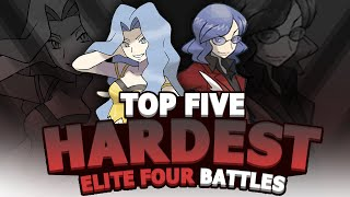 Top 5 Hardest Elite Four Battles (Feat. AuraGuardian)