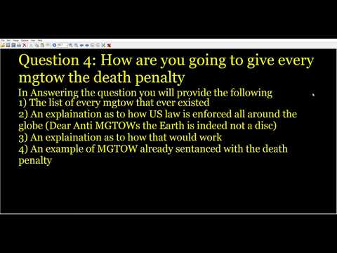 MGTOW Questions for Datetards - Part 2