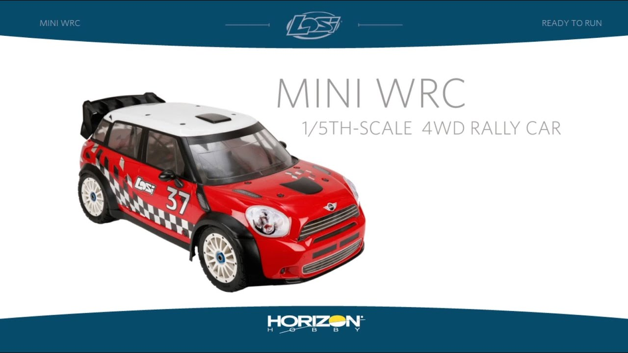 15 Mini Wrc 4wd Rally Car Rtr With Avc Technology By Losi Youtube